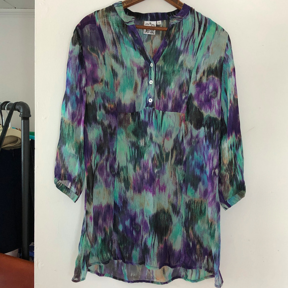 Parsley & Sage Tops - Parsley & Sage | Art To Wear Popover Tunic Top S